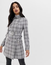 Lipsy Prince Of Wales Check Coat Multi