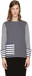 Stella Mccartney Navy Striped T Shirt