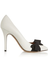 Isabel Marant Bow Trimmed Leather Pumps