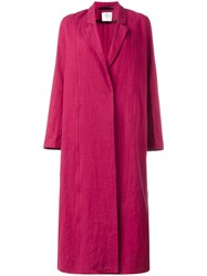 Forte Forte Long Trench Coat Red