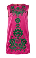 Cynthia Rowley Duchess Satin A Line Shift Dress Pink