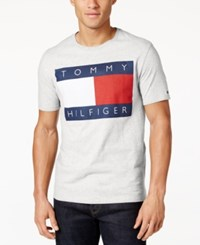 Tommy Hilfiger Men's Old Skool Graphic Print T Shirt Classic White