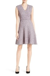 Rebecca Taylor Women's Stretch Tweed Fit And Flare Dress Pink Navy