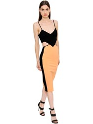 David Koma Cutout Stretch Jersey Pencil Dress