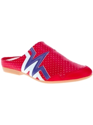 Walt By Walter Van Beirendonck Vintage Striped Open Shoe Red