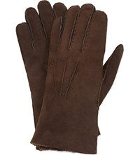 Paul Smith Accessories Shearling Gloves Tan