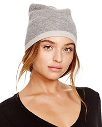 Theory Hody Color Block Cashmere Beanie Bloomingdale's Exclusive Husky Light Heather