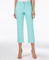 Charter Club Petite Straight Leg Cropped Pants Only At Macy's Angel Blue