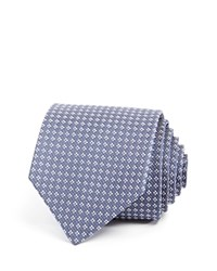 Theory Mini Window Check Skinny Tie Blue