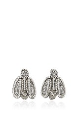 Rochas Bee Bug Earrings Silver