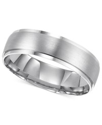 Macy's 14K White Gold Ring Comfort Fit 6Mm Wedding Band