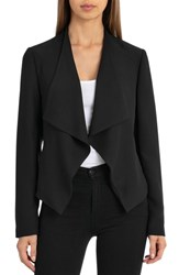 Bagatelle Crepe Drape Jacket Black