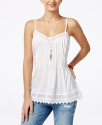 American Rag Juniors' Sleeveless Pintucked Top Only At Macy's Egret