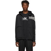Y 3 Black Stripes Hooded Track Jacket