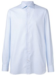 Isaia Plain Formal Shirt Blue