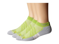 Drymax Sport Max Cushion Run Packaged Mini Crew 3 Pair Pack Lime Green Crew Cut Socks Shoes