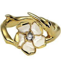 Shaun Leane Sterling Silver Gold Vermeil Single Blossom Ring