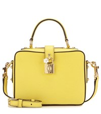 Dolce And Gabbana Rosaria Leather Shoulder Bag Yellow