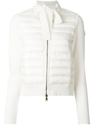 Moncler Padded Front Tie Collar Jacket White