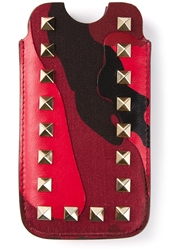 Valentino Garavani 'Rockstud' Iphone Case Red