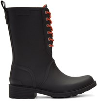 Rag And Bone Black Ansel Rain Boots