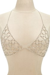 Forever 21 Circle Link Body Chain Bralette Silver