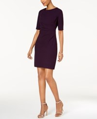 Betsey Johnson Draped Front Sheath Dress Plum