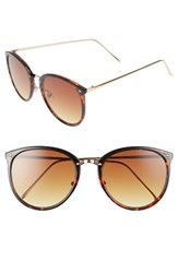 Bp Women's Leith 55Mm Round Sunglasses Burgundy Gold Burgundy Gold