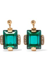Marni Gold Tone Crystal Earrings