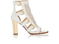Christian Louboutin Women's Fencing Leather Gladiator Sandals Nude