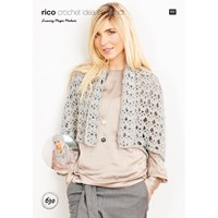 Rico Design Magic Mohair Cardigan Hat And Scarf Crochet Pattern 630