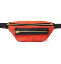 Tom Ford Leather Trimmed Suede Belt Bag Orange