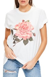 Missguided Women's Floral Print Graphic Tee
