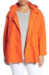 Eileen Fisher Plus Size Women's Lightweight Cotton And Nylon Jacket With Stowaway Hood