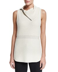 Elie Tahari Brighton Sleeveless Turtleneck Sweater Antique