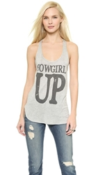 Haute Hippie Cowgirl Up Tank Light Heather Grey Coal