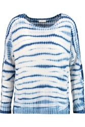 Joie Eloisa Tie Dyed Cashmere Sweater Blue