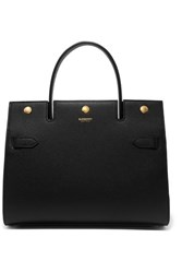 Burberry Small Textured Leather Tote Black