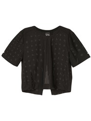 The Upside Perforated T Shirt Black