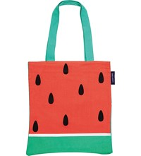 Sunnylife Watermelon Print Canvas Tote Bag Red