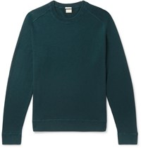 Massimo Alba Slim Fit Watercolour Dyed Cashmere Sweater Blue