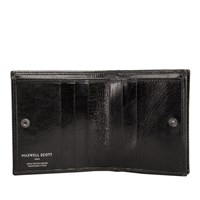 Maxwell Scott Bags Black Leather Wallet For Men With Coin Pocket