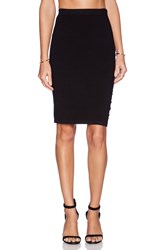 Velvet By Graham And Spencer Engineered Body Con Rayanne Skirt Black