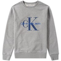 Calvin Klein Ck Re Issue Embroidered Crew Sweat Grey