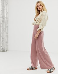 Free People Bambi Wide Leg Cord Trousers Pink