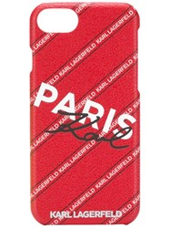 Karl Lagerfeld Paris Iphone 8 Case Red