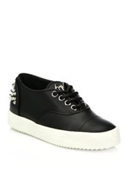 Giuseppe Zanotti Spiked Leather Low Top Sneakers Black
