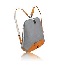 Tika Urbanita Wool And Leather Convertible Backpackyellow