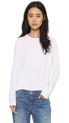J Brand Montara Long Sleeve Tee White