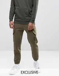 Puma Skinny Cargo Joggers In Green Exclusive To Asos Green